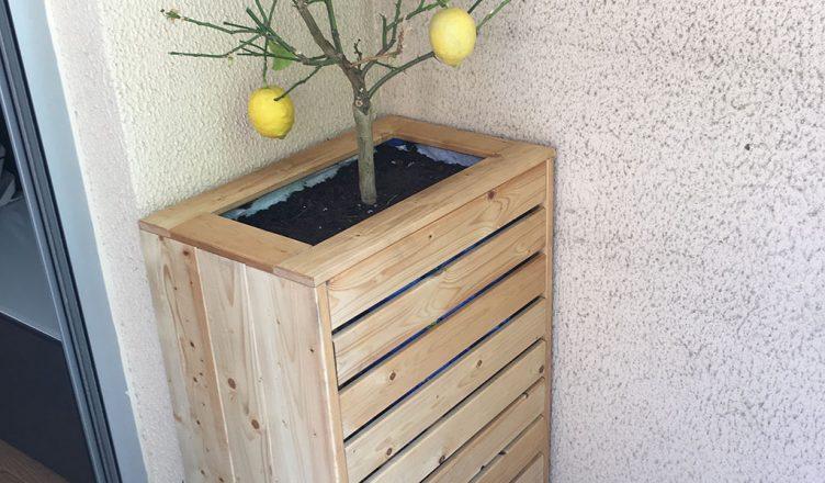 diy jardinière avec compartiment de rangement